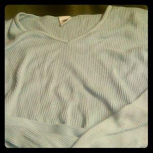 Long sleeve ribbed v-neck GAP sweater Large